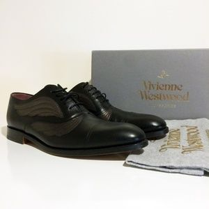 Vivienne Westwood Black Leather Oxfords Men's US 8